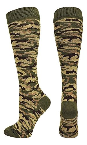 795071254214c Camo Pattern Over the Calf Socks (#Green Camo, Small) Made by  #MadSportsStuff Color #Green Camo. PERFECT SPORTS SOCKS: #Stand out on the  field or court with ...