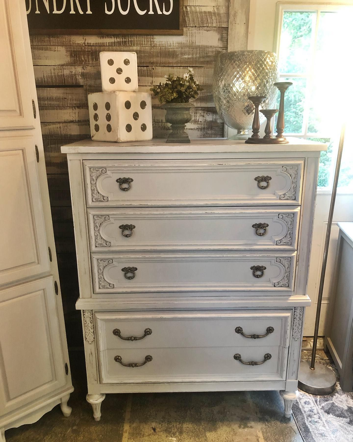 Light Gray Clay Furniture Paint Faded Gray Mudpaint Furniture Paint Gray Painted Furniture Painted Furniture French Painted Furniture [ 1800 x 1440 Pixel ]