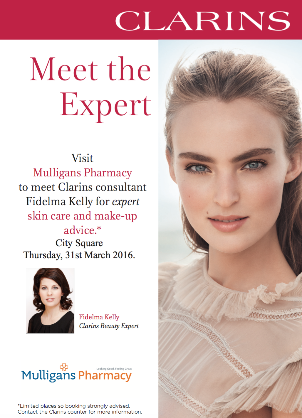 762a83232ecf1 We are delighted to welcome #Clarins #Beauty #Expert Fidelma Kelly to our  City