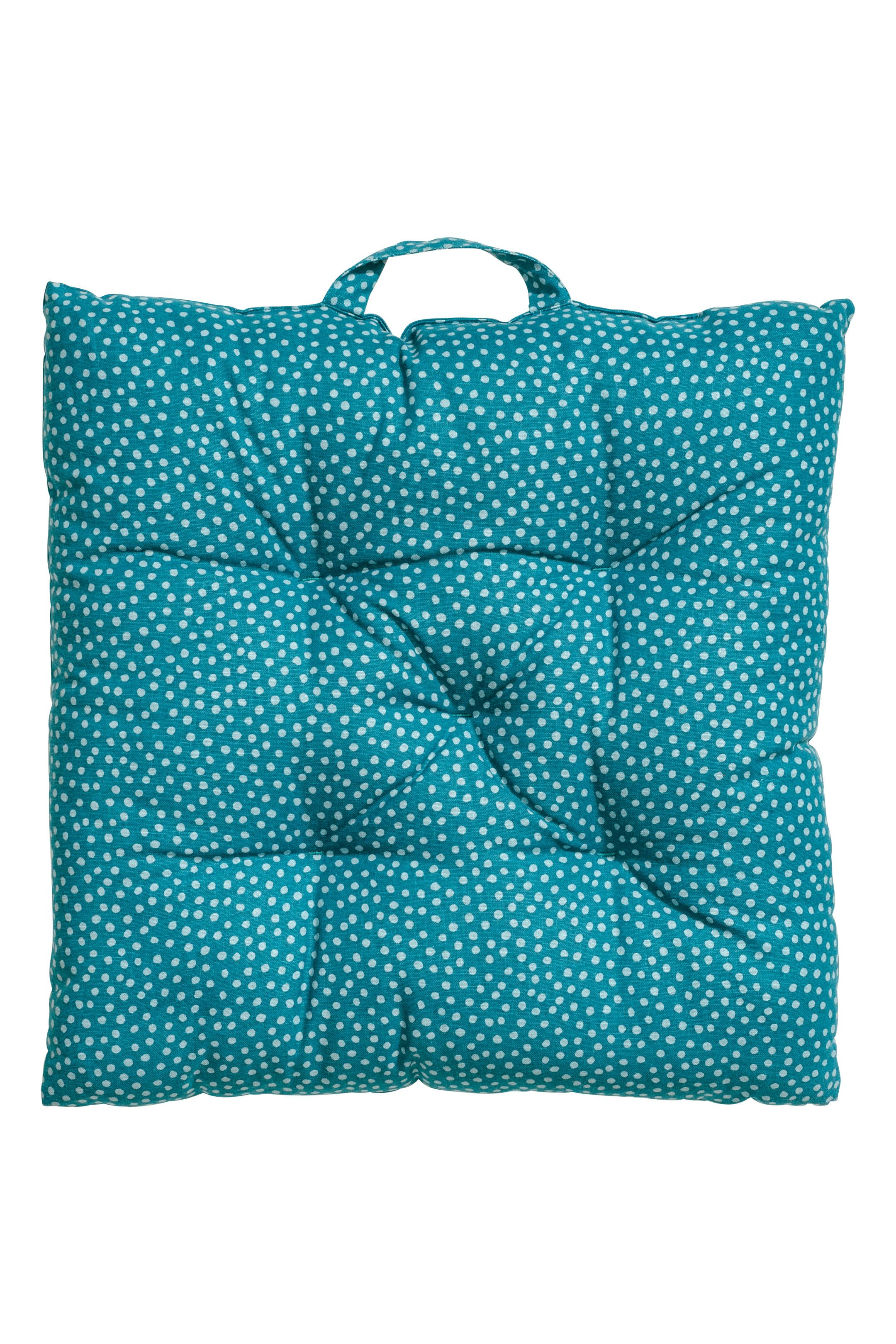 Patterned Seat Cushion Turquoise Home All H M Outdoor Bench Seat Cushions Bench Cushions Outdoor Outdoor Bench Seating