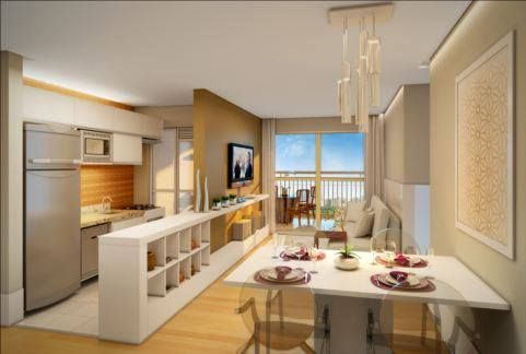Salas e cozinhas conjugadas saiba como aproveitar todos for Cocina americana sala de estar idea