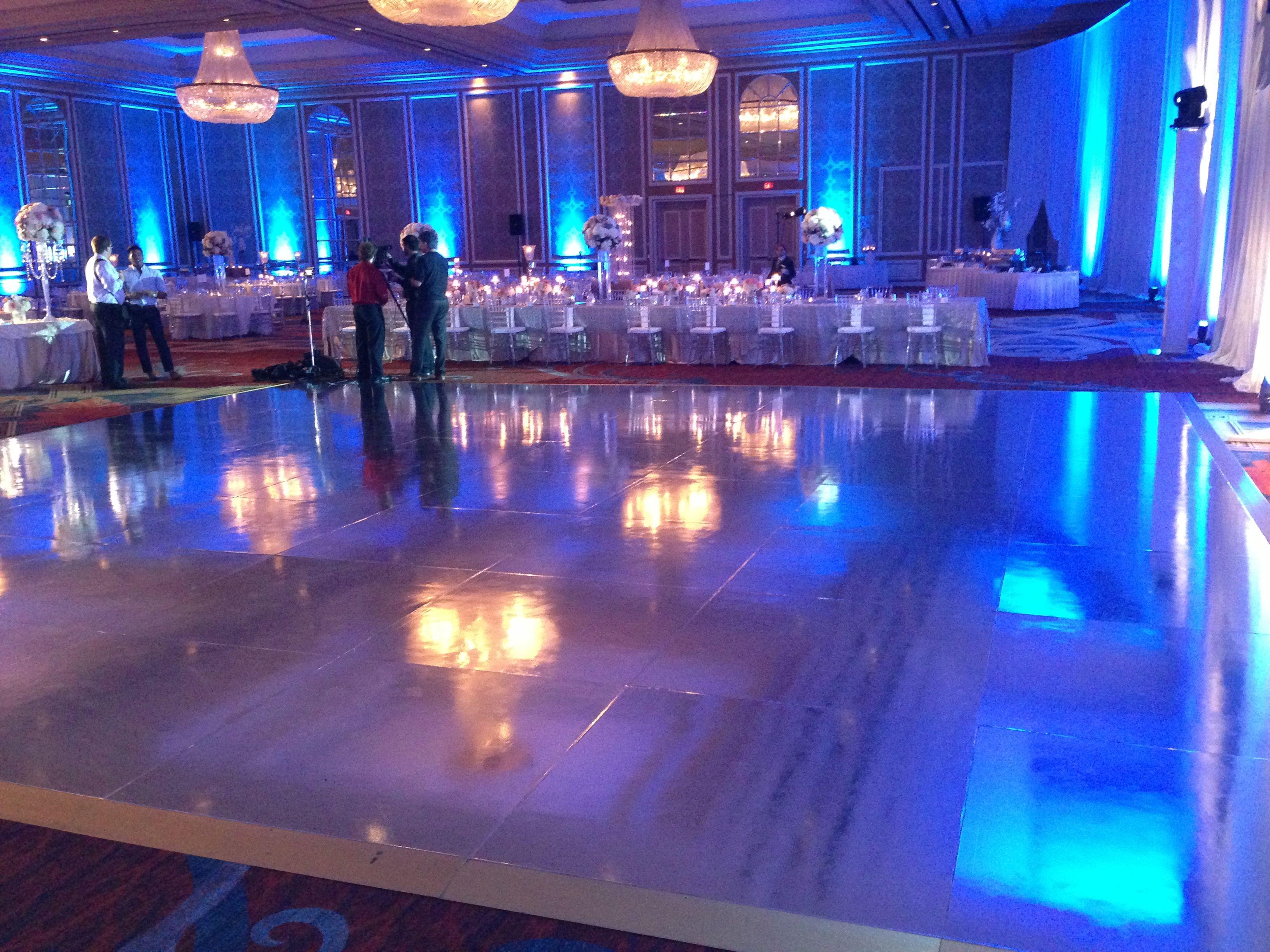 Mirrored dance floor rental - such a pretty detail! www ...