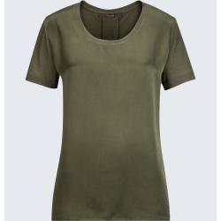 Photo of Silk short-sleeved shirt in olive windsor