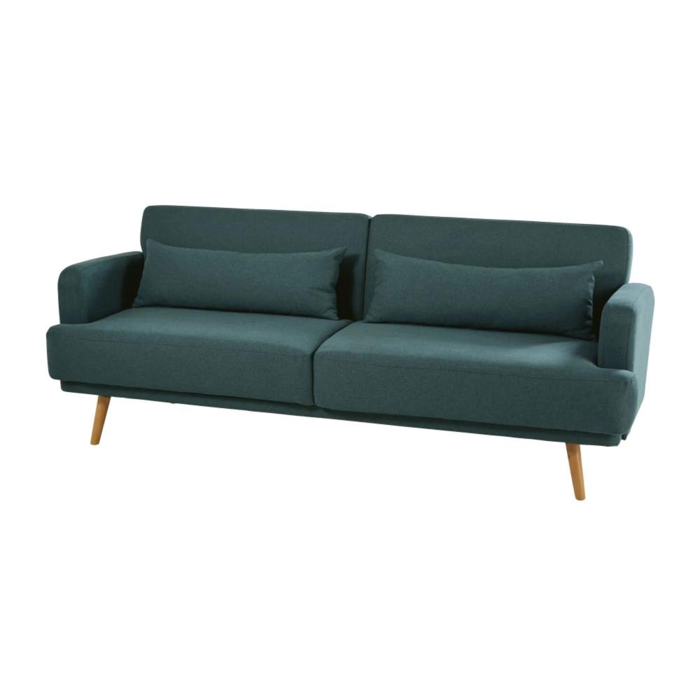 Canape Lit 3 Places Vert Elvis Maisons Du Monde In 2020 Grey 3 Seater Sofa 3 Seater Sofa Bed Sofa