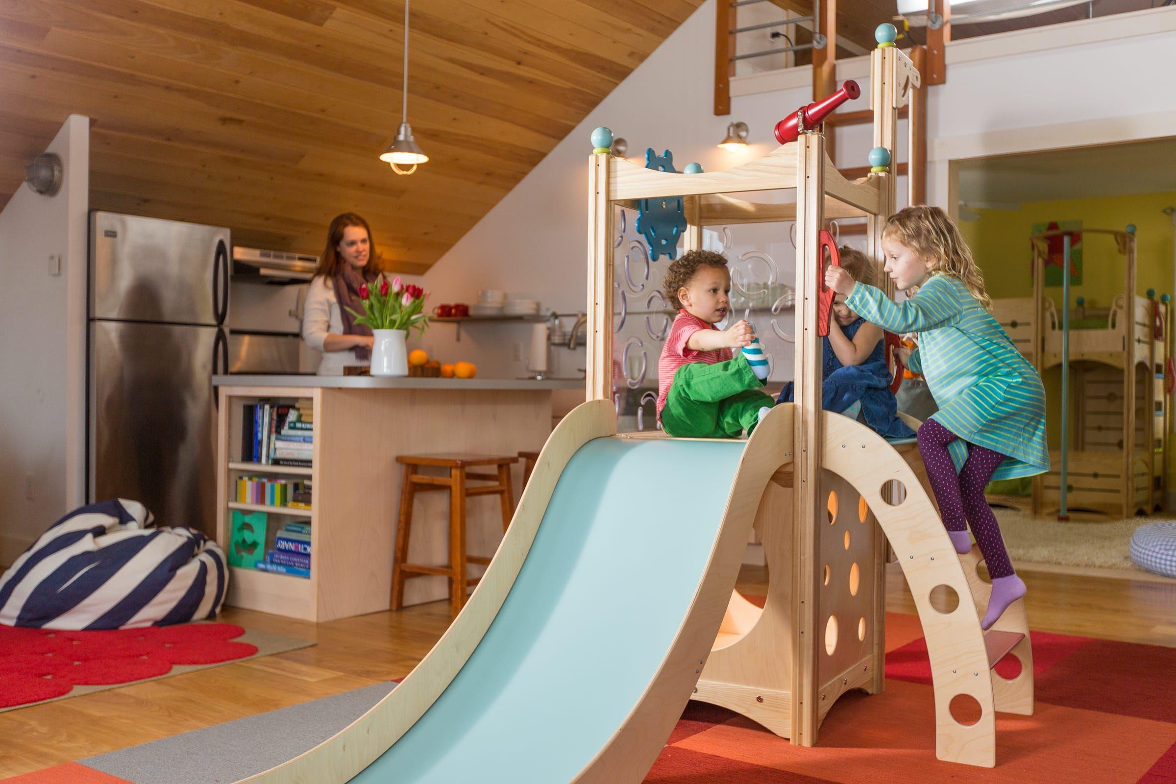 Klettergerüst Zimmer : Indoor playset from cedarworks kinderzimmer babyzimmer