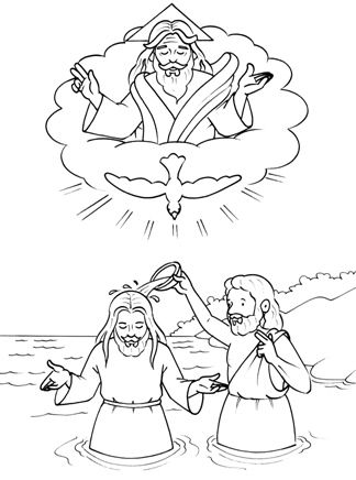 imagenes del bautismo de jesus para colorear para niños - Buscar con ...