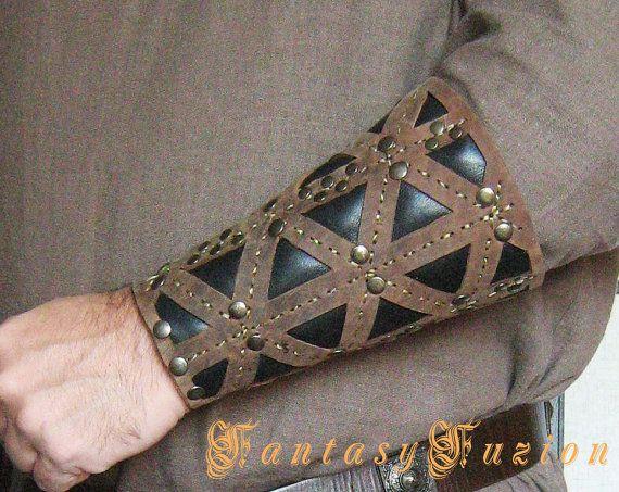 Medieval Gladiator Viking Armor Leather Bracer