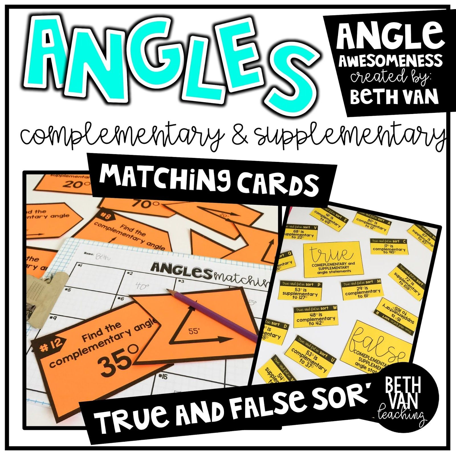Complementary And Supplementary Angles Activities