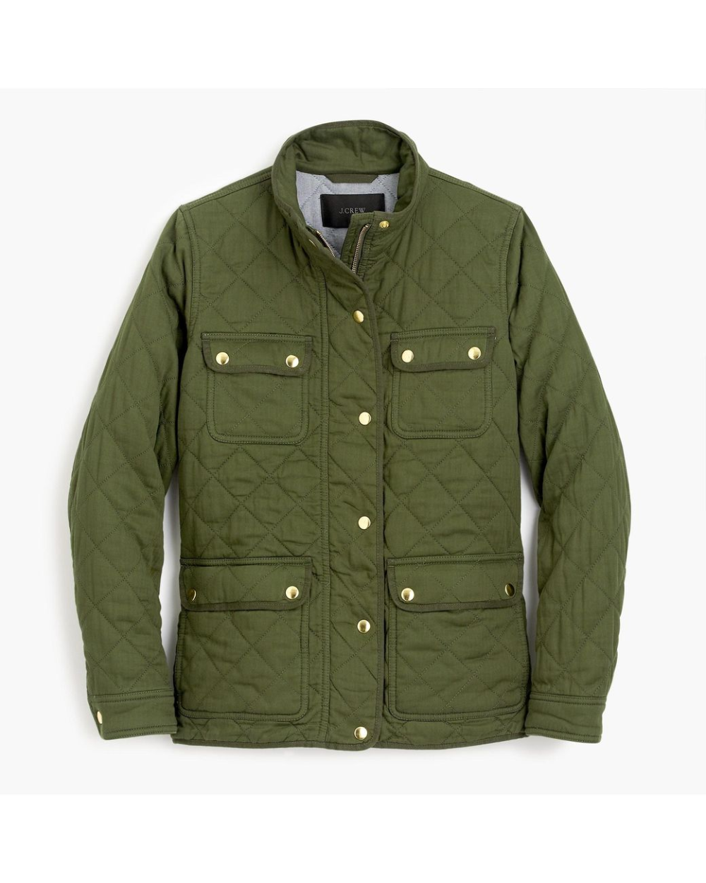 J Crew Green Quilted Downtown Field Jacket Women Outerwear Jacket Outerwear Women Field Jacket [ 1250 x 1000 Pixel ]