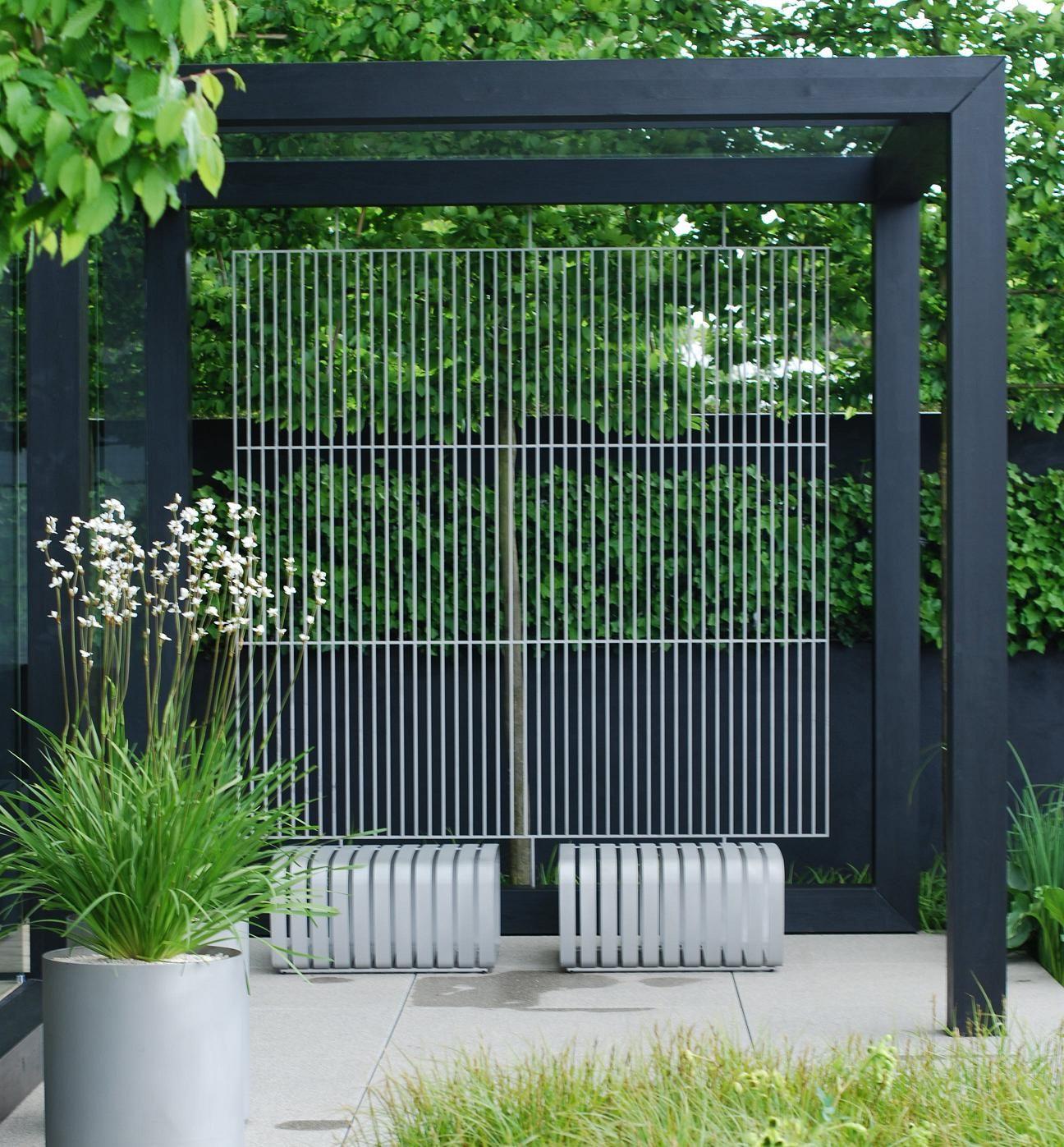 We will have a dark grey pergola similar to this built in - Pergolas metalicas ...