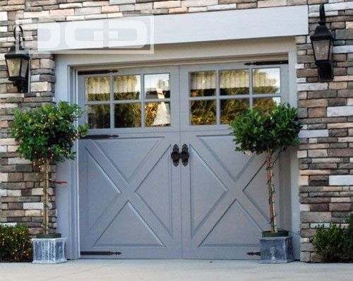 Our French Inspired Home European Style Garages And Garage Doors Garage Door Styles Garage Door Design Garage Doors