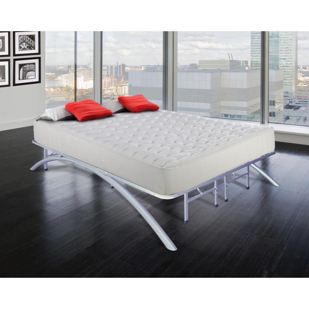 Rest Rite Queen Size Dome Arc Platform Bed Frame In Silver Mfp00112bfqn Bed Frame Sizes Metal Platform Bed Platform Bed Frame Full