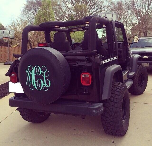 Monogrammed Tire Cover Jeep Wrangler Tire Covers Jeep Wrangler