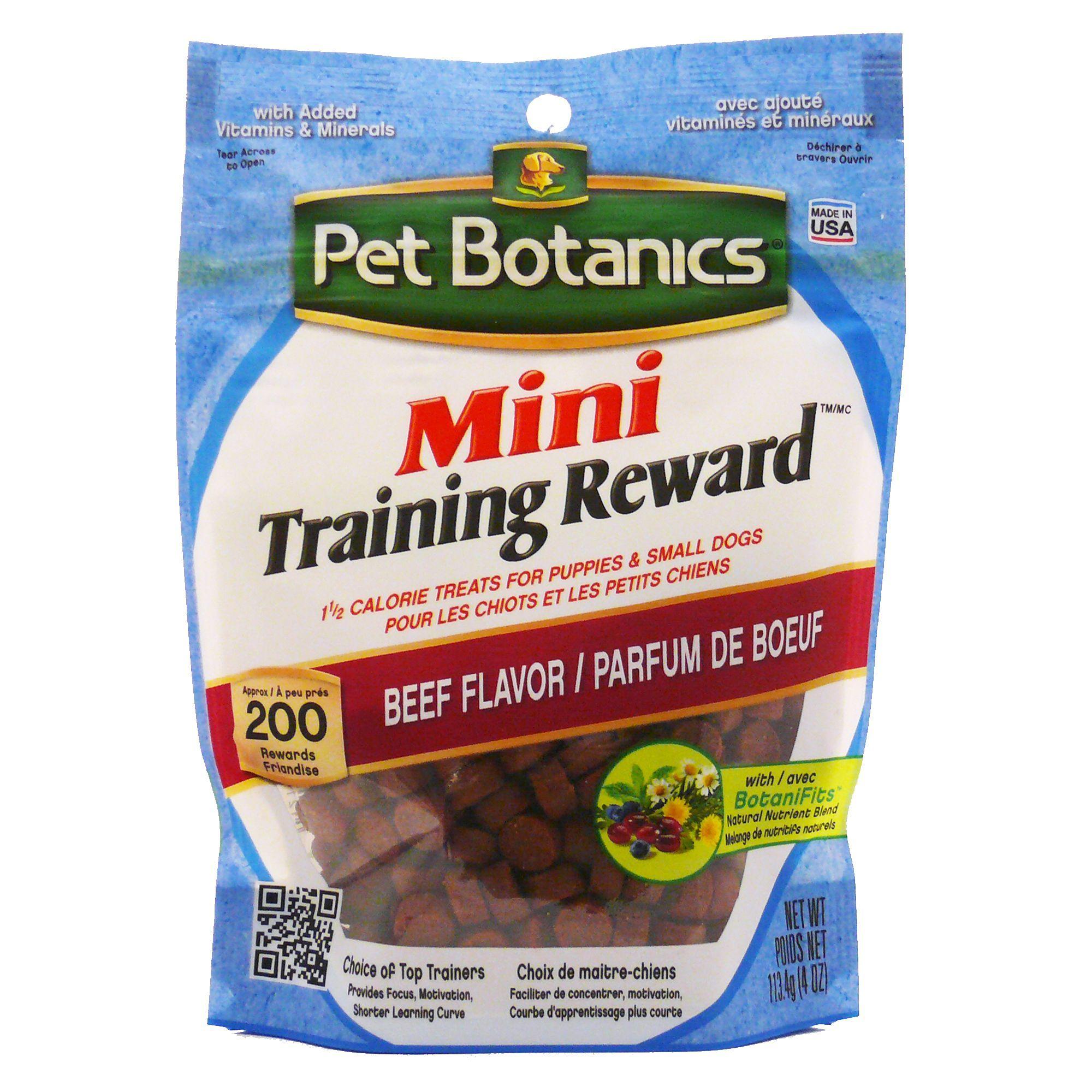 Pet Botanics Mini Training Rewards Dog Treats Size 4 Oz Barley