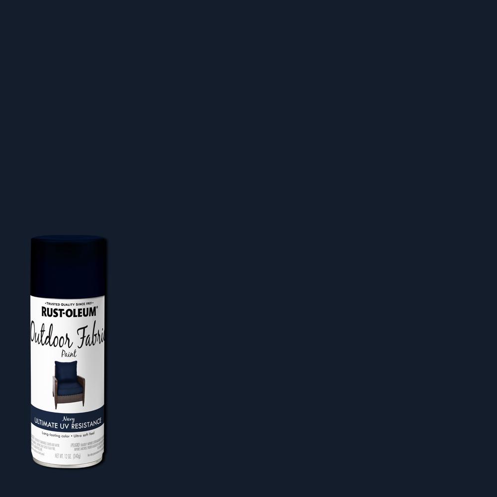 Rust Oleum 12 Oz Navy Outdoor Fabric Spray Paint 352116 The Home Depot In 2021 Fabric Spray Fabric Spray Paint Outdoor Fabric