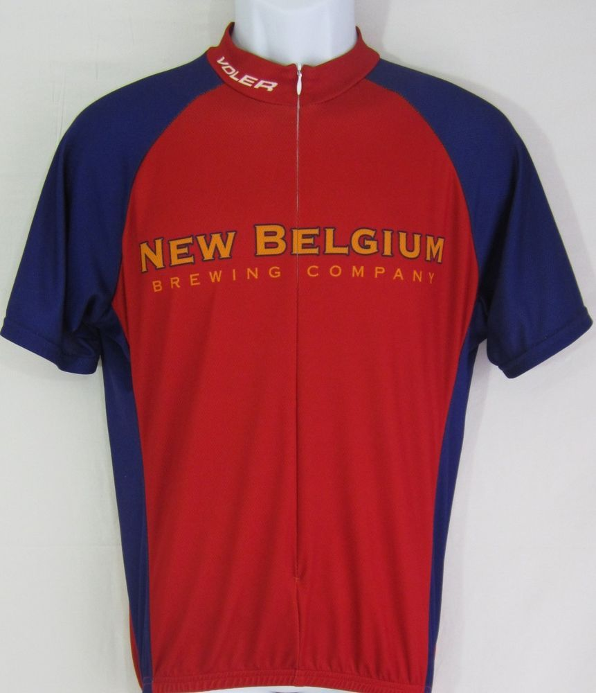 Fat Tire New Belgium Brewery CO. Voler MENS Cycling JERSEY LARGE Nice  Voler 1238a6830