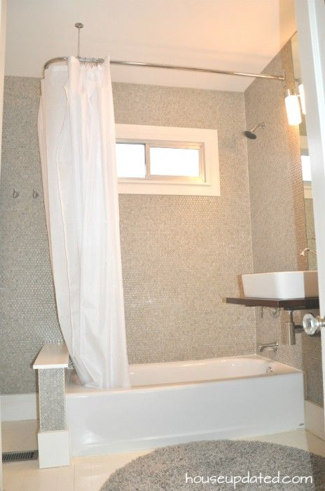 L Rod In The Shower Shower Curtain Rods Shower Tub Tub Remodel