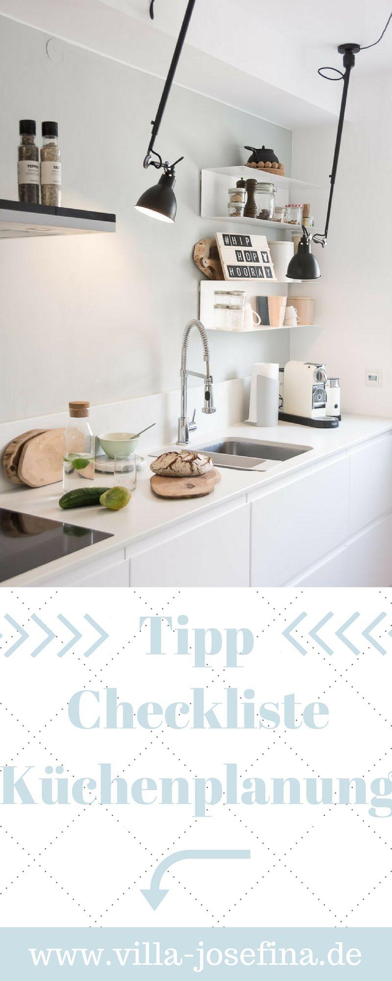 Tipps zur Küchenplanung, Checkliste neue Küche, grifflose Küche ...