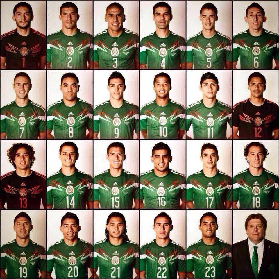 mexico 23 men national squad fifa worldcup brazil 2014 soccer playersfutbol
