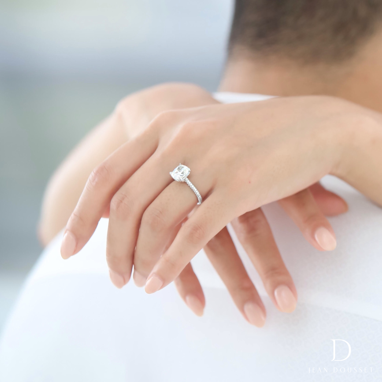 Chelsea Is A Handcrafted Jean Dousset Diamonds Solitaire Engagement Ring Set In Plat Wedding Rings Engagement Solitaire Engagement Ring Wedding Rings Solitaire