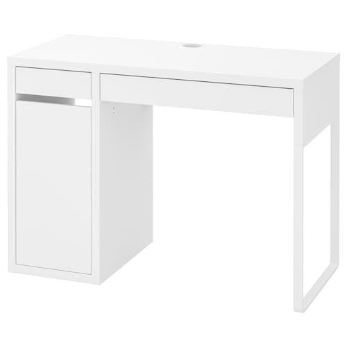 Micke Desk White 55 7 8x19 5 8 Ikea In 2020 Micke Desk Ikea Micke White Desks