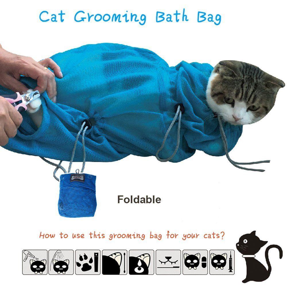 Kamalm Pet Cat Grooming Bag Cat Washing Tools Restraint Bath Bag