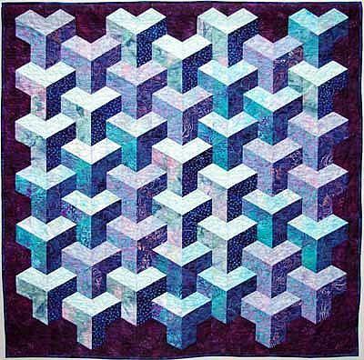 Tumbling Blocks Quilt Pattern | ... under cat tunnel sewing ... : quilt pattern free - Adamdwight.com