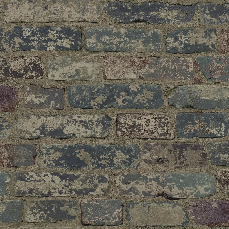 "Urban Chic Up the Wall 33' x 20.5"" Brick/Wood/Stone Roll"