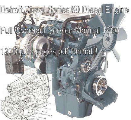 Detroit Diesel Series 60 Service Shop Manual Download Detroit Diesel Detroit Diesel