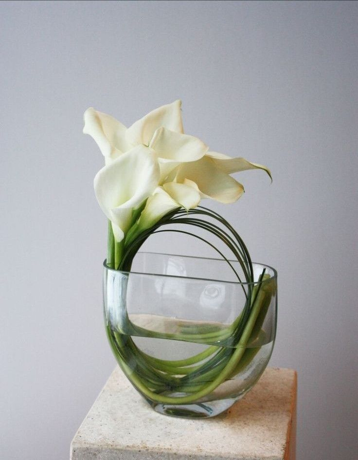 The Elegant Calla Lily For Your Wedding Contemporary Flower Arrangements Modern Flower Arrangements Modern Floral Arrangements