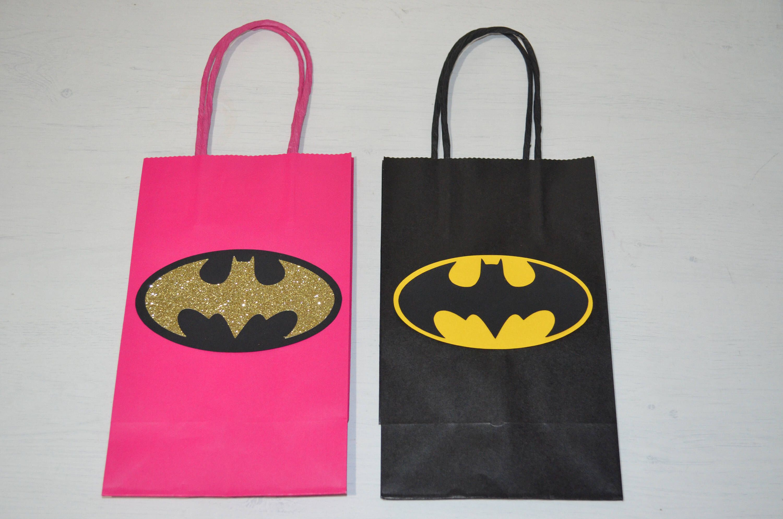 Batman Favor bags . Batman party, Batman birthday, Batman ...
