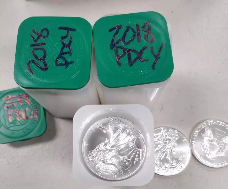 Bullion Roll Of 20 2018 1 Oz Silver American Eagle 1 Coin Bu Bullion Silver Bullion Coin Prices