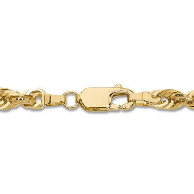 fd9d03f4508 Glitter Rope Chain Necklace 10K Yellow Gold 24