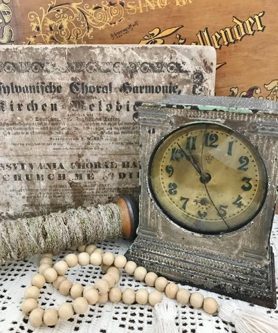 VINTAGE CLOCK. Vintage Alarm Clock. Cast Iron Clock. Vintage Home Decor. Antique Alarm Clock. Clock