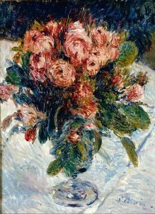 Auguste Renoir, <em>Roses mousseuses</em>, oil on canvas, circa 1890. Paris, Mus