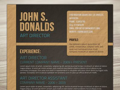 Craft Paper Resume Design Resume styles, Design resume and Cv - resume styles