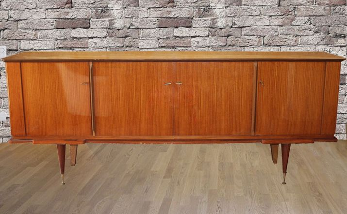 buffet annee 50 mobilier placage bois