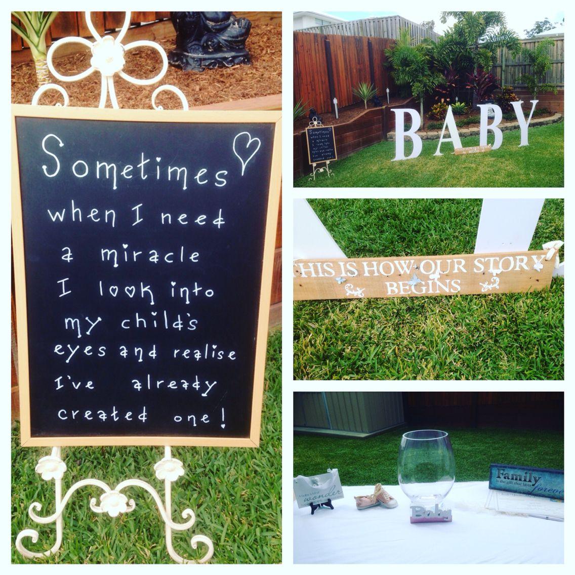 Naming ceremony in couples backyard