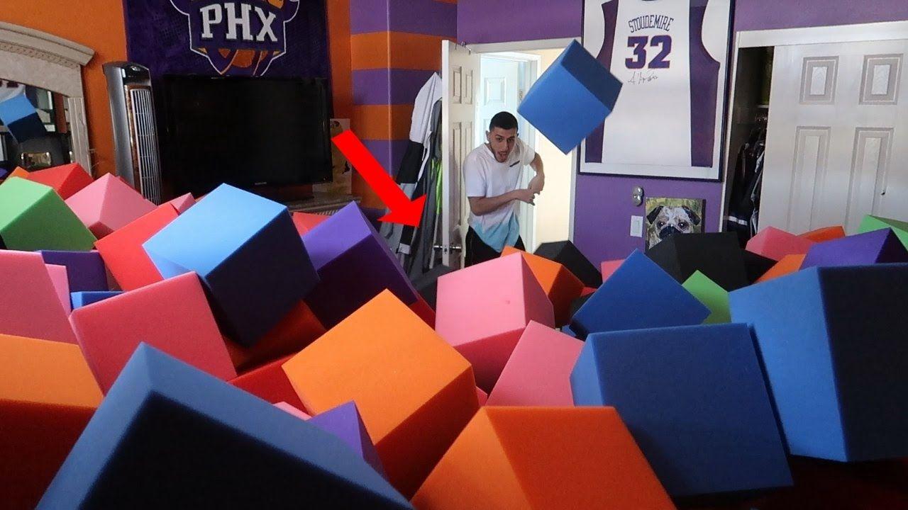 Faze Rug Insane Foam Pit In Room Scare Prank Completely Full Lance Stewart Youtube Cool Stuff