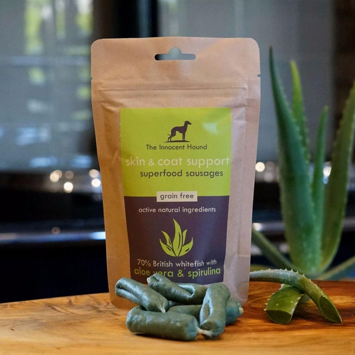 Superfood Natural Dog Treats. Skin & Coat Support aloe
