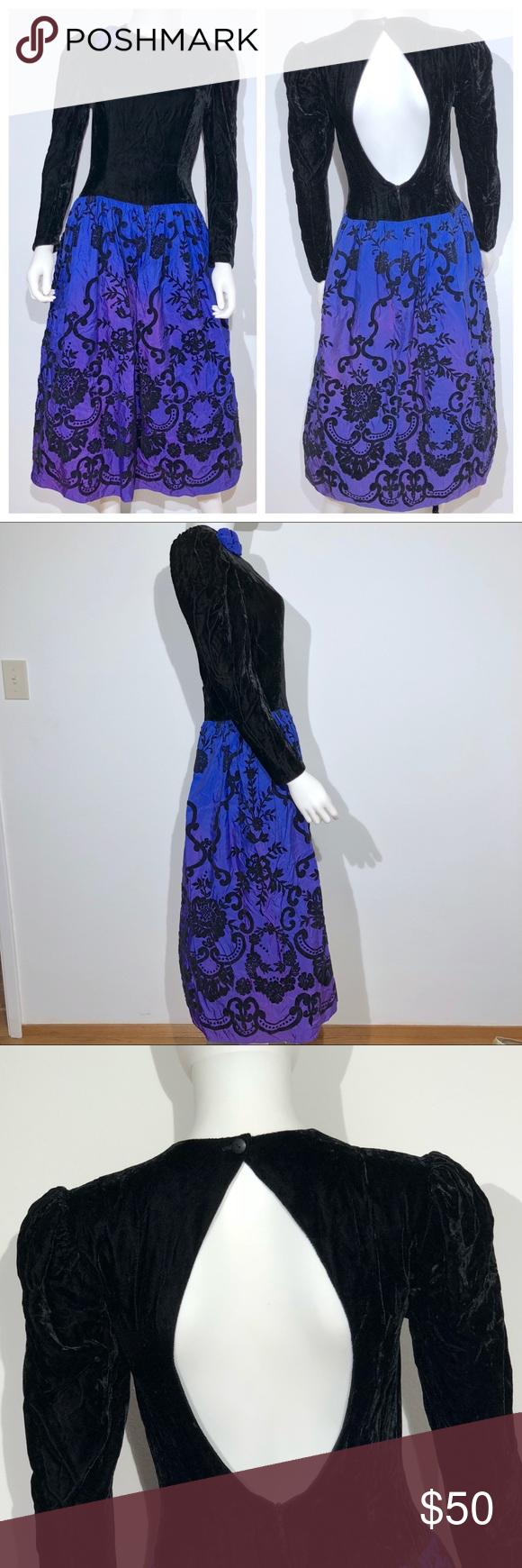 Scott mcclintock vintage prom dress sm open back in my posh