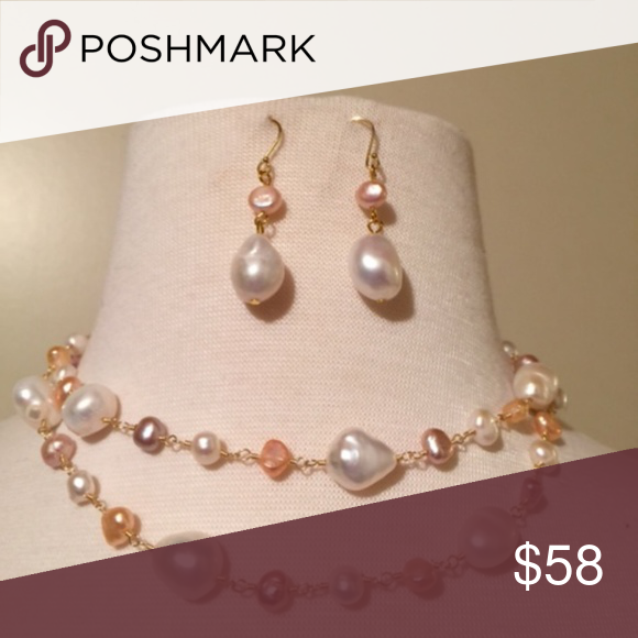 Freshwater Pearl Necklace Set Pearl Necklace Set Freshwater Pearl Necklaces Necklace Set