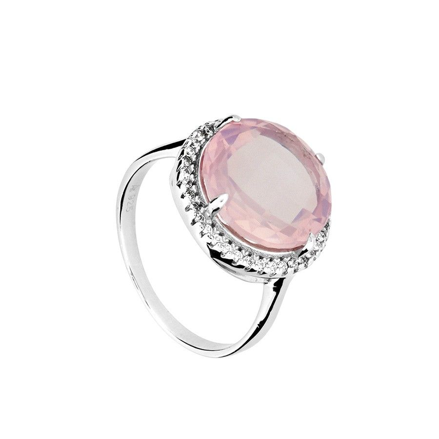 Rose Quartz Cocktail Ring