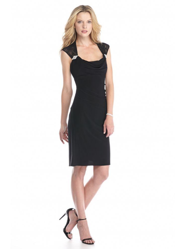 RM Richards Rhinestone Embellished Cocktail Dress - Belk.com ...