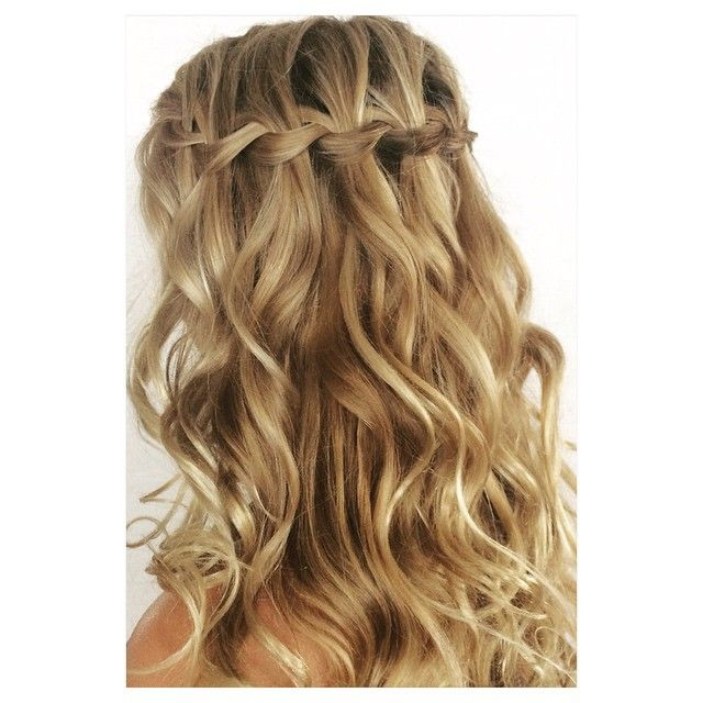 Braid Curl Wedding Hair: Nothing Says Romance Like A Well Done Waterfall Braid With
