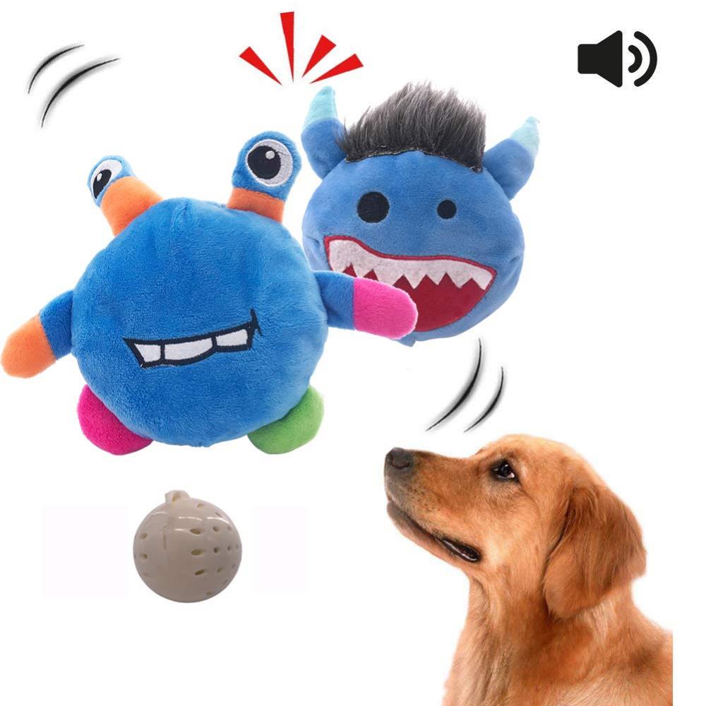Sfyjunhao Neilden New Dog Toys Interactive Plush Dog Toy Squeaky Automatic Ball Toys Electronic Shake Crazy Bou Interactive Dog Toys Plush Dog Plush Dog Toys