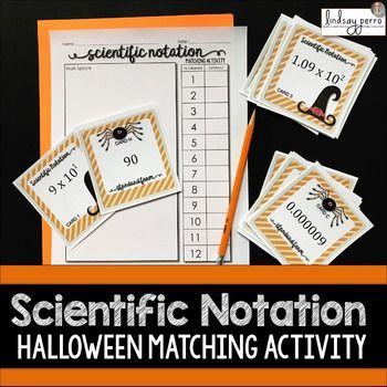 Scientific Notation Editable Matching Activity 83 Scientific