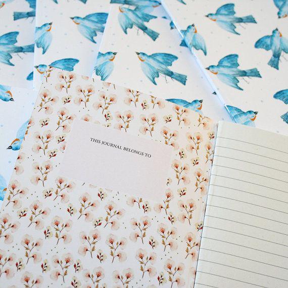 Laptop dagboek dagboek slikken A6 lente van SoniaCavallini op Etsy