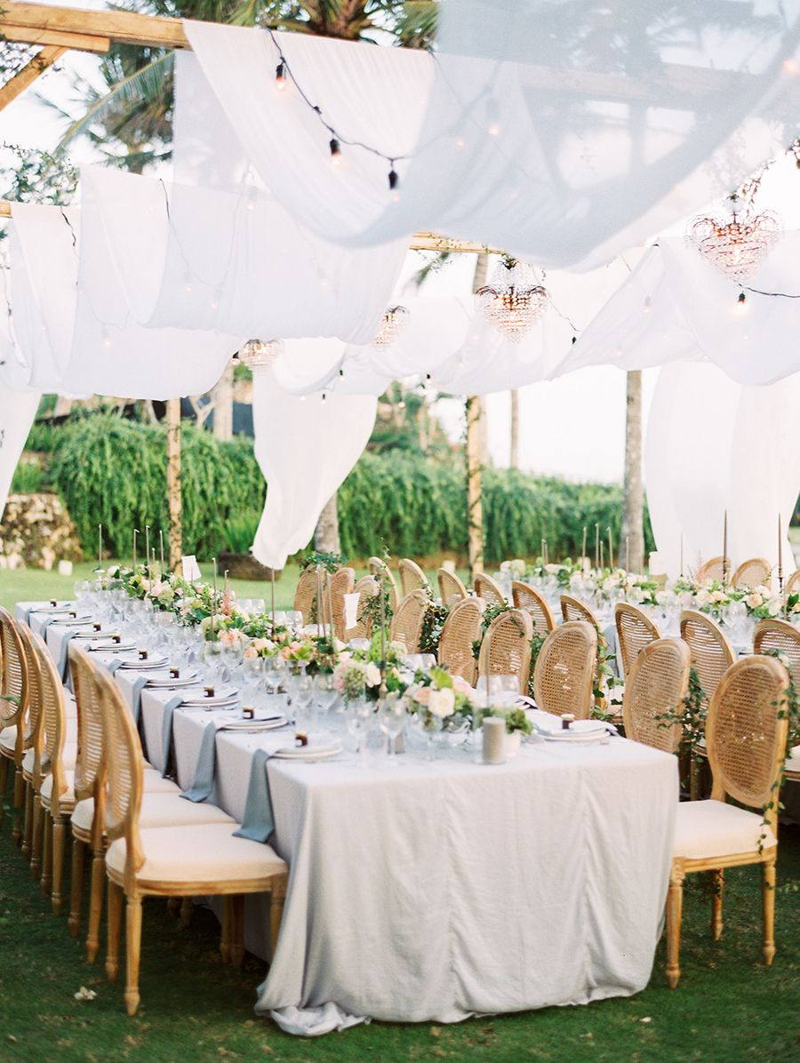 Celebrating Under A Sea Of The Most Romantic Draped Fabric