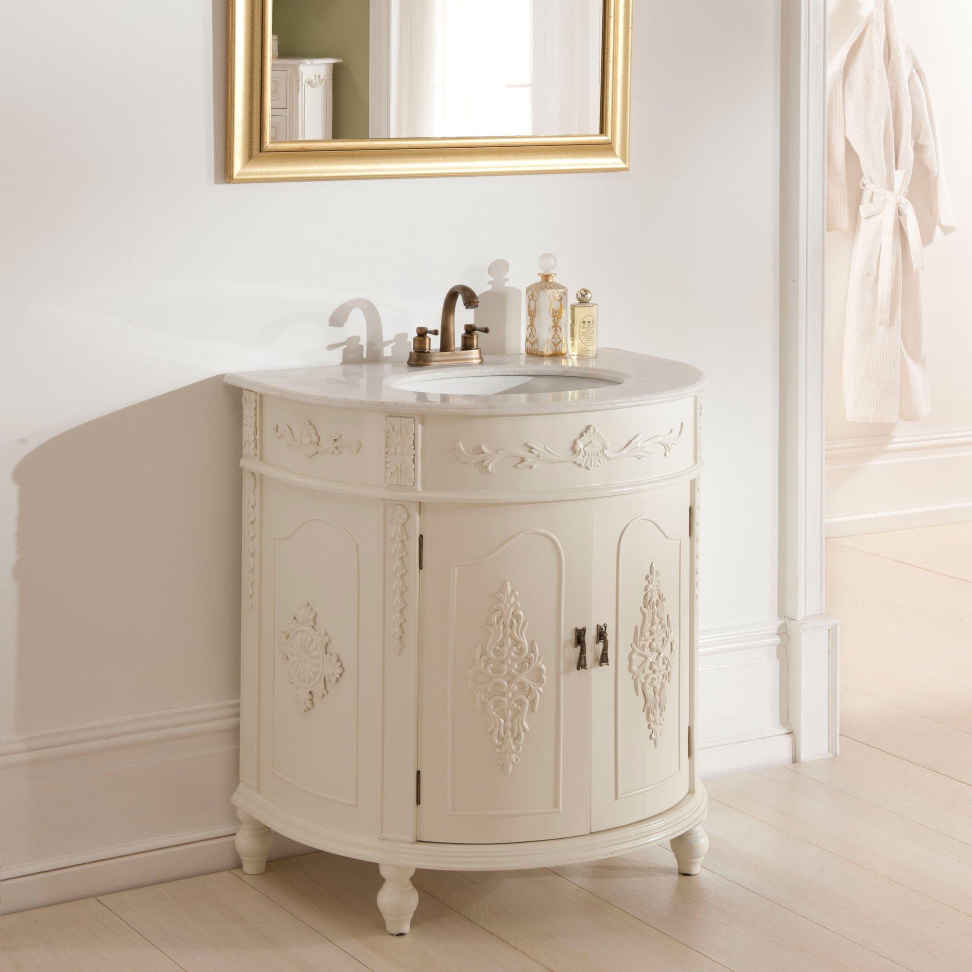 Antique French Style Vanity Unit bathrooms Pinterest
